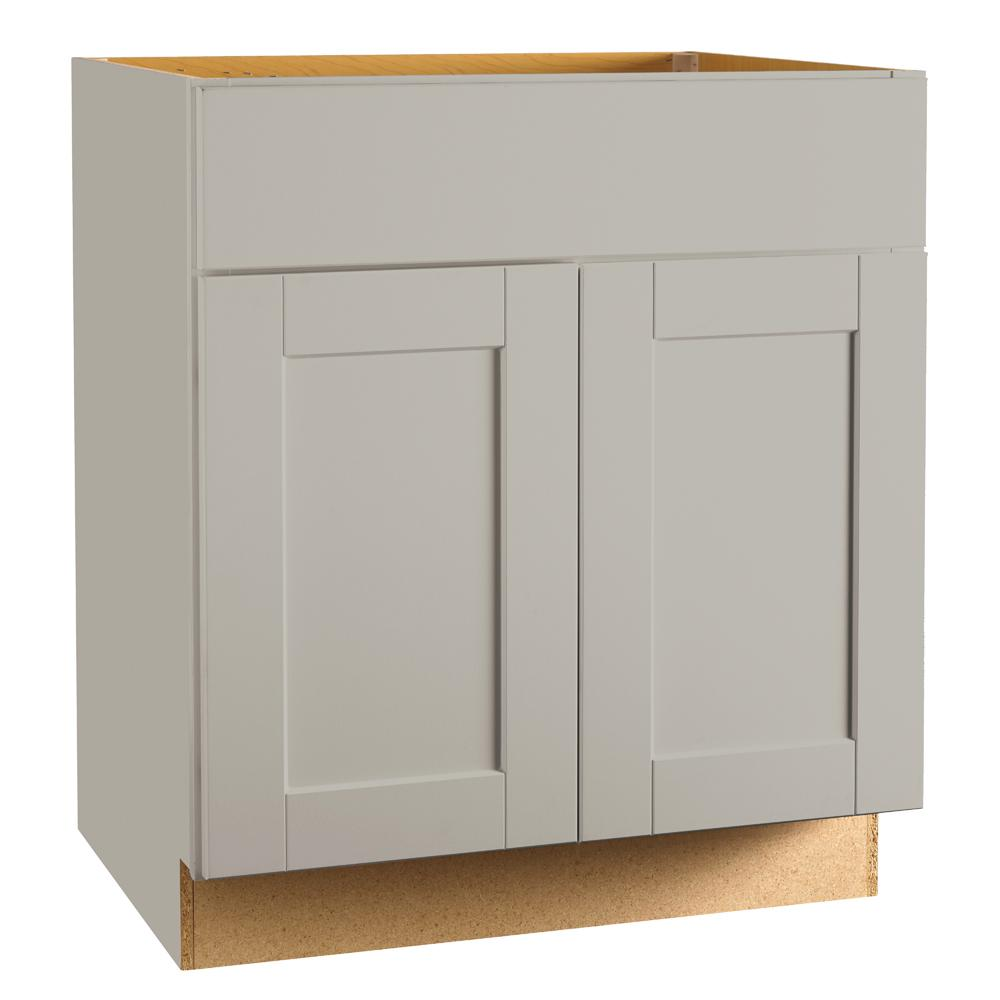 kitchen base cabinets home depot hampton bay shaker assembled 30x34 5x24 in sink base 7725