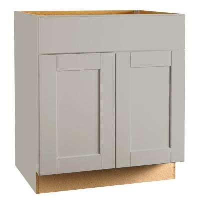 Kitchen Sink Cabinet Base kitchen cabinets kitchen the home depot shaker assembled 30x345x24 in sink base kitchen cabinet in dove gray workwithnaturefo