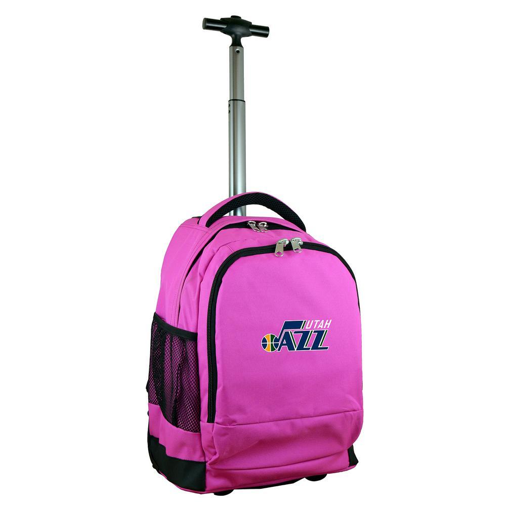 NBA Utah Jazz 19 in. Pink Wheeled Premium Backpack