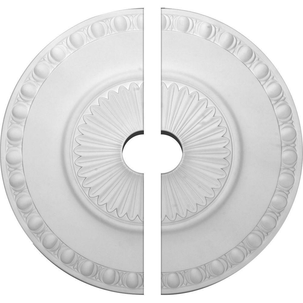 23-1/2 in. O.D. x 3-1/2 in. I.D. x 3-1/4 in. P Lyon Ceiling Medallion (2-Piece)