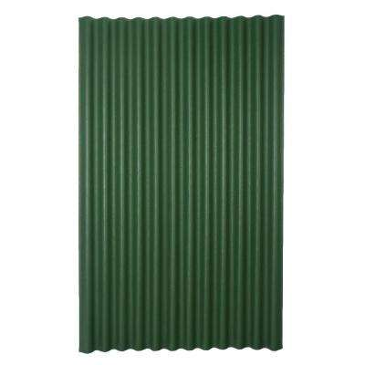 6 ft. 7 in. x 4 ft. Asphalt Corrugated Roof Panel in Green