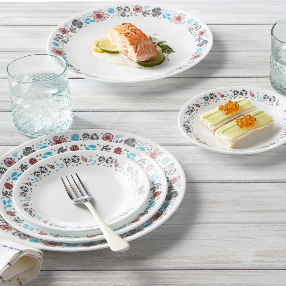Classic 16-Piece Nordic Blooms Dinnerware Set