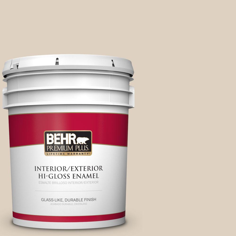 BEHR Premium Plus 5 gal. #PPU7-10 Roman Plaster Hi-Gloss Enamel ...