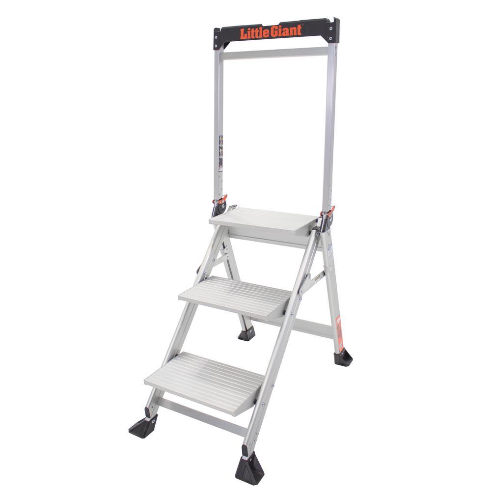 Little Giant Ladder Systems 3-Step Aluminum Jumbo Stepstool