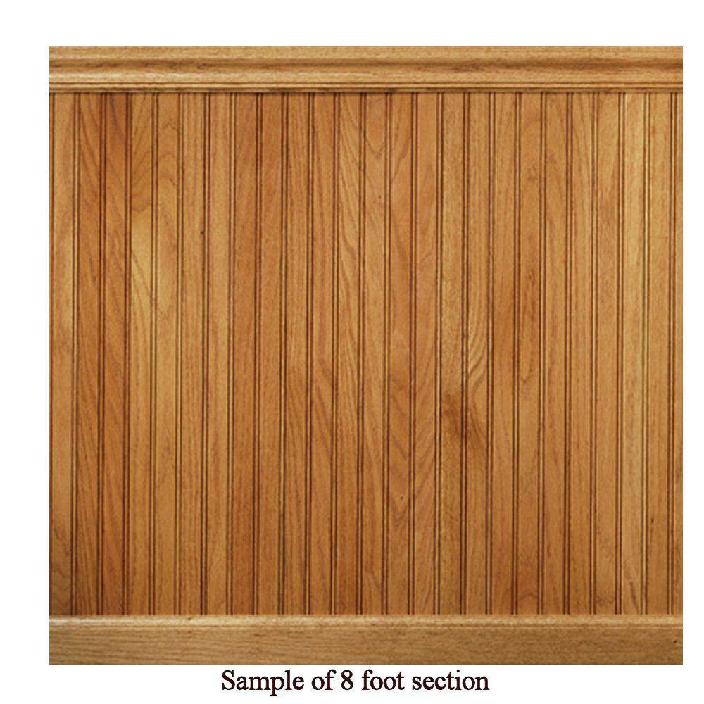 House Of Fara 8 Lin Ft Red Oak Tongue And Groove Wainscot Paneling 32okit The Home Depot