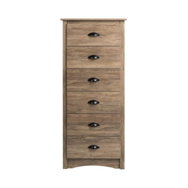 Salt Spring Tall 6-Drawer Drifted Gray Chest of Drawers