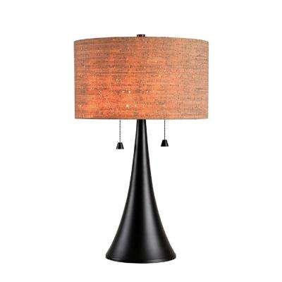 Bulletin 29 in. Oil Rubbed Bronze Table Lamp with Cork Shade