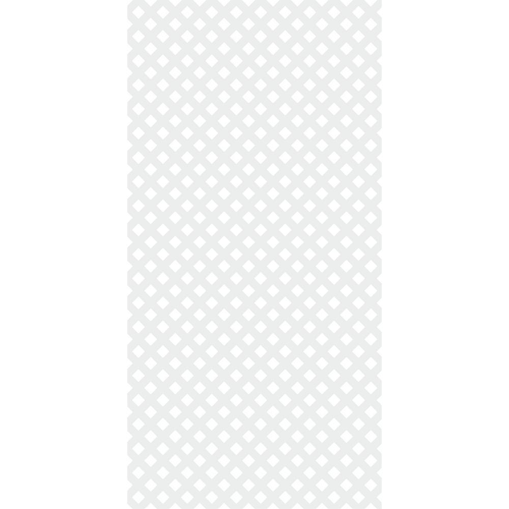 4 ft. x 8 ft. White Privacy Vinyl Lattice (2-Pack)