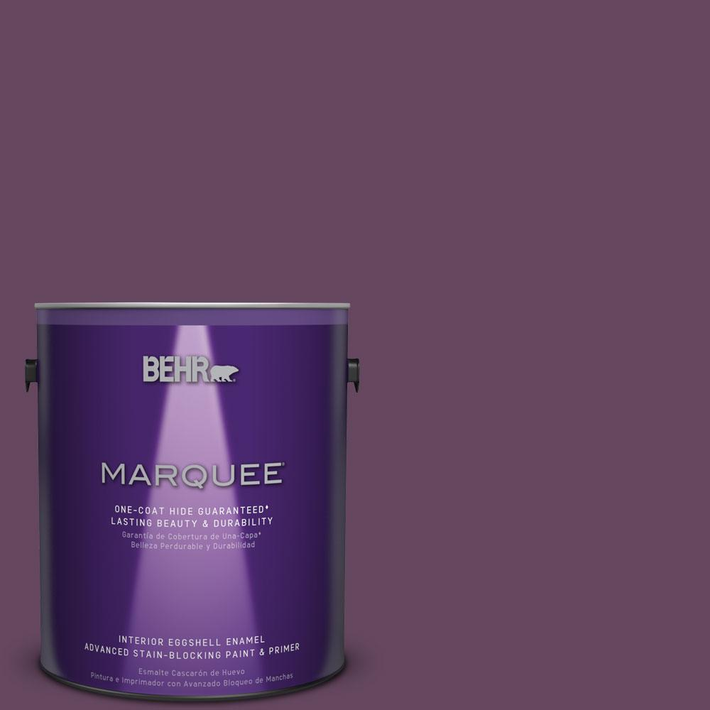 1 gal. #MQ5-35 Plum Rich One-Coat Hide Eggshell Enamel Interior Paint