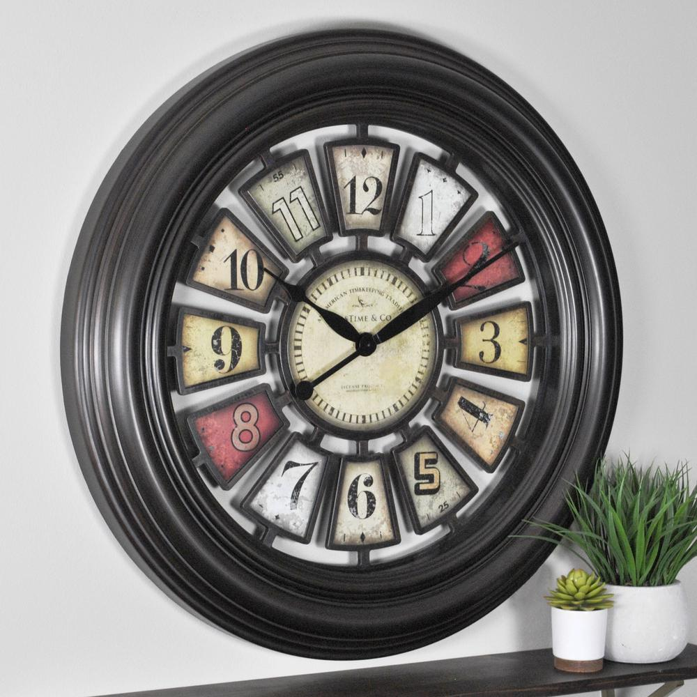 Firstime Bicycle Wheel Wall Clock Iron Price Tracking