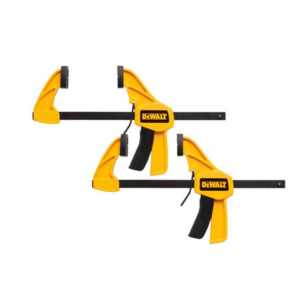 DeWalt DEWALT 6 in. 100 lbs. Trigger Clamps (2-Pack) with 2.43 in Throat Depth