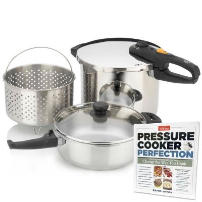Duo 5-Piece Combi Set with America's Test Kitchen Pressure Cooker Perfection Cookbook