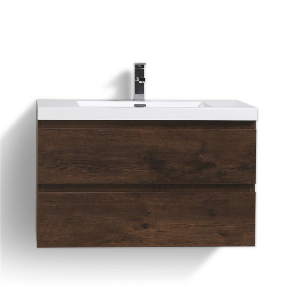 Mob 36 In W Vanity In Rich Rosewood With Reinforced