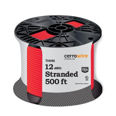 500 ft. 12/1 Red Stranded THHN Wire