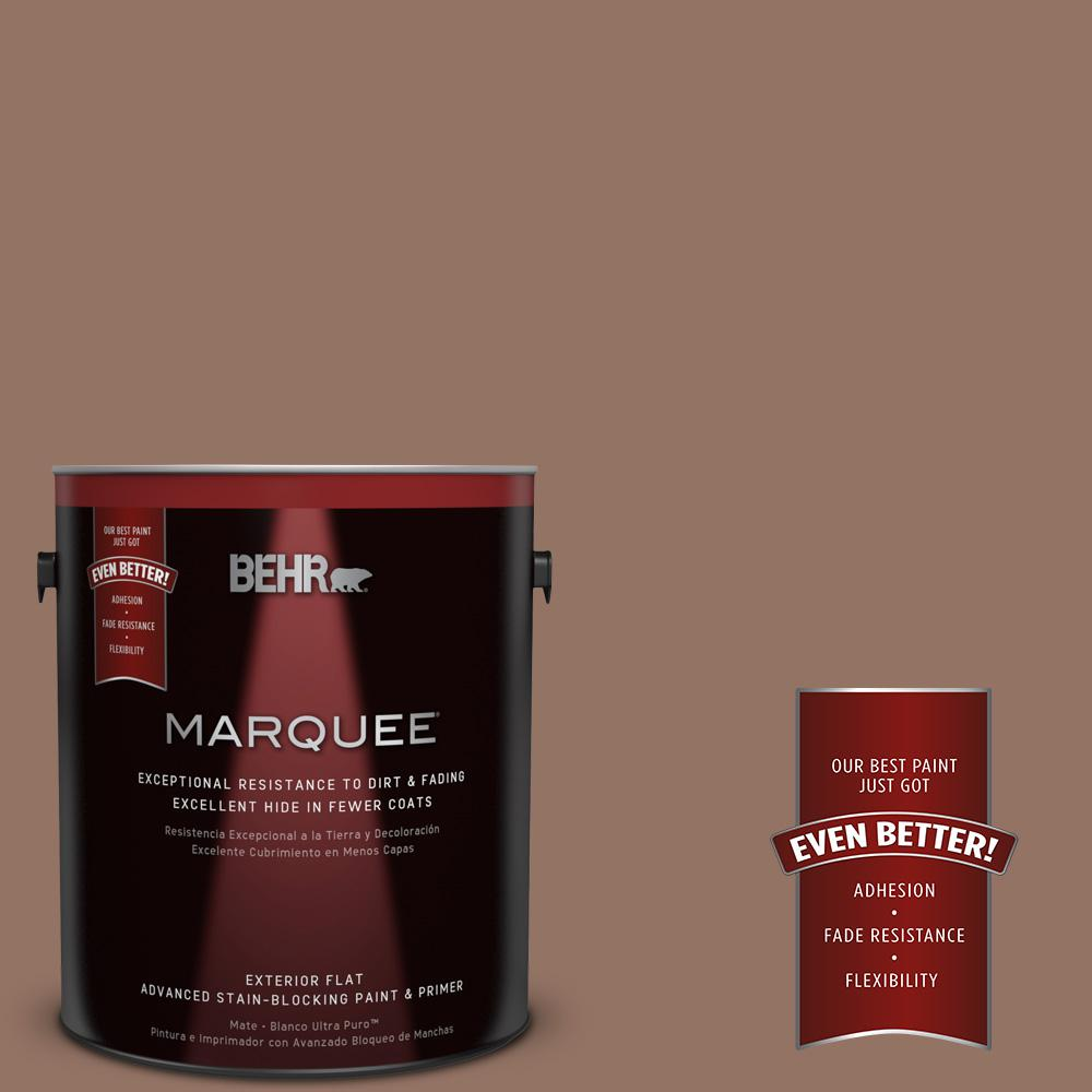 BEHR MARQUEE 1-gal. #BXC-84 Corral Brown Flat Exterior Paint