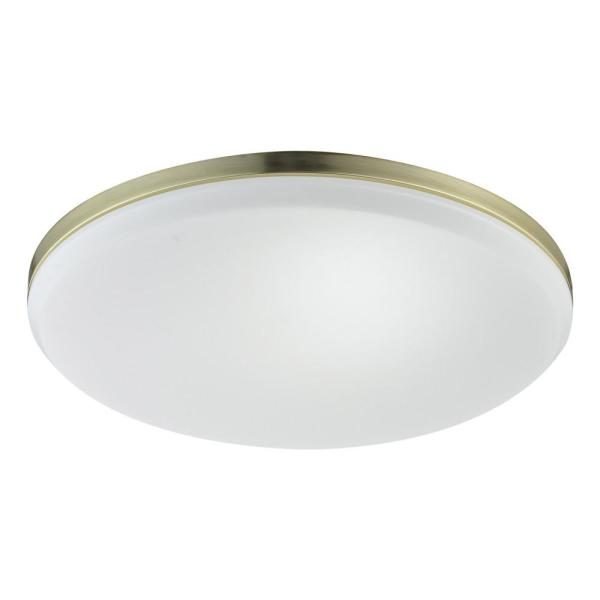 Novogratz 28-Watt Matte Brass Slim Integrated LED Flush Mount
