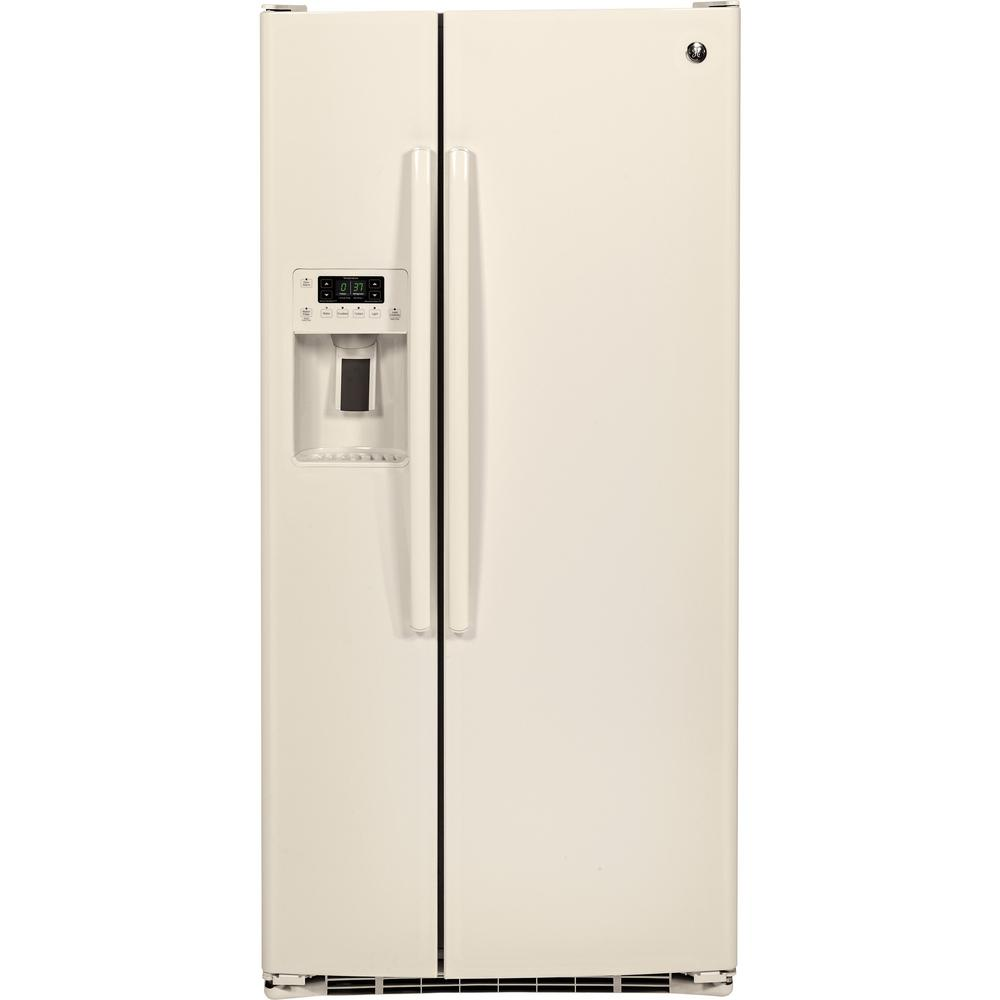 Ge 23 2 Cu Ft Side By Refrigerator In Bisque