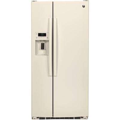 33 in. W 23.2 cu. ft. Side-By-Side Refrigerator in Bisque