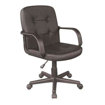 Black Pu Mid Back Office Chair