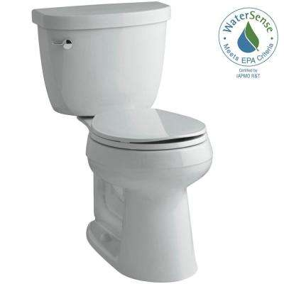 Cimarron Comfort Height 2-piece 1.28 GPF Single Flush Round Toilet with AquaPiston Flush Technology in Ice Grey