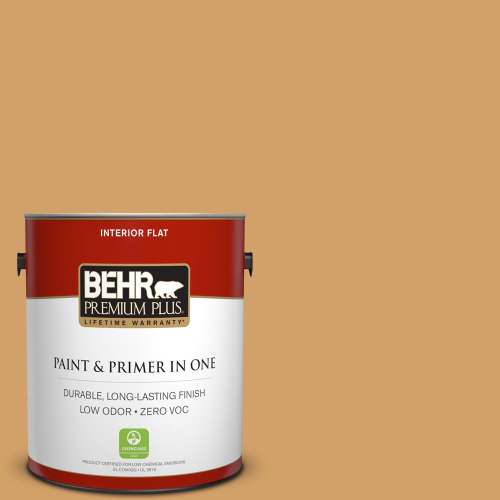BEHR Premium Plus 1-gal. #300D-5 Desert Caravan Zero VOC Flat Interior Paint
