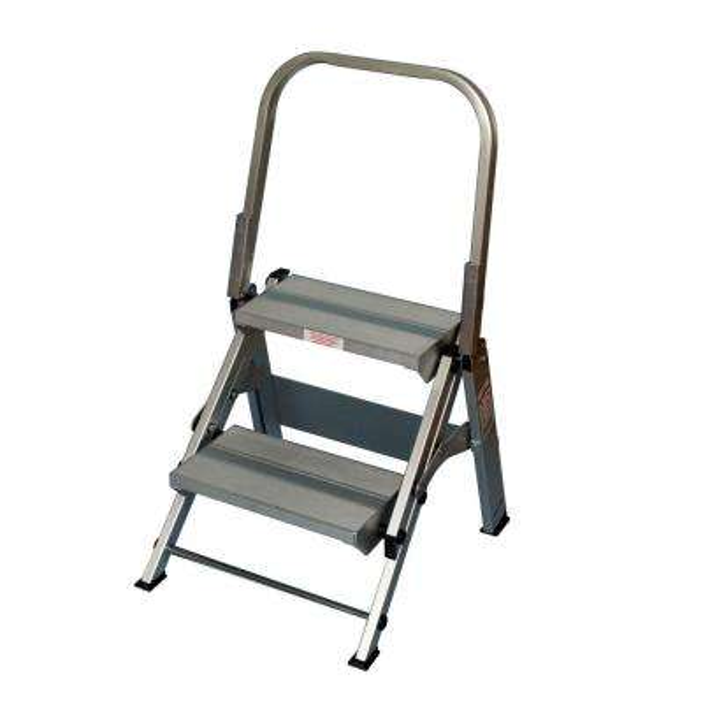 2-Step Aluminum Step Stool with 375 lb. Load Capacity Type IAA Duty Rating