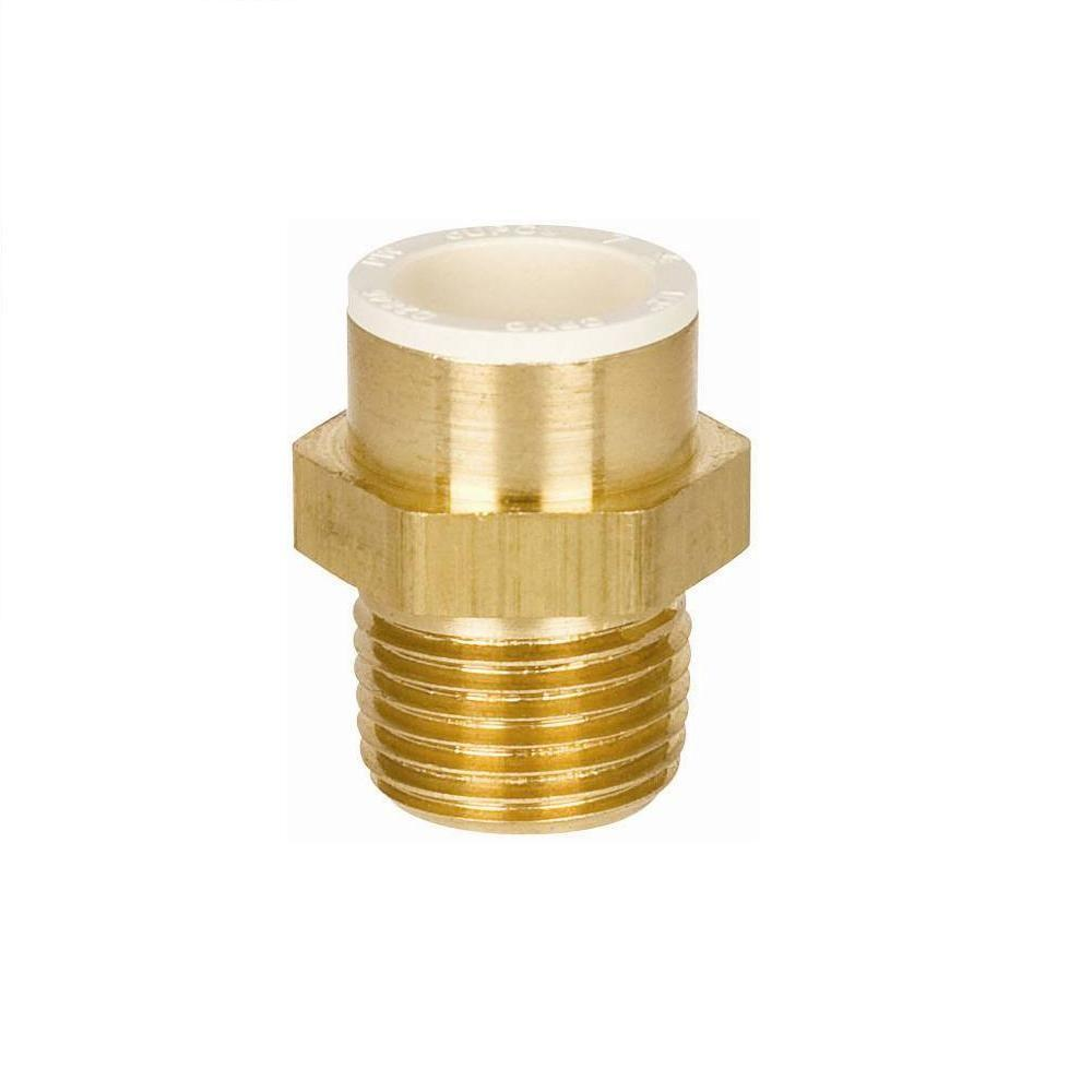 Sioux Chief 1/2 in. Lead Free Brass Slip x MIP Adapter
