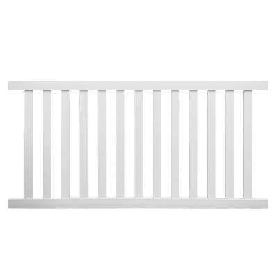 Captiva 4 ft. H x 6 ft. W White Vinyl Privacy Fence Panel