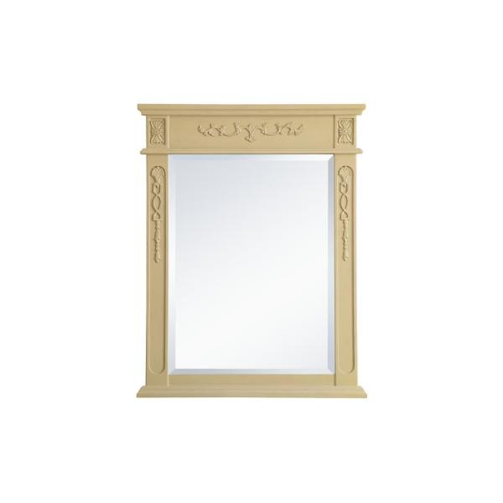 Medium Rectangle Light Antique Beige Contemporary Mirror (36 in. H x 28 in. W)