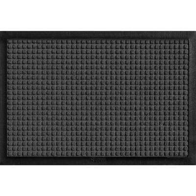 Aqua Shield with Rubber Border Charcoal 17.5 in. x 26.5 in. Pet Mat