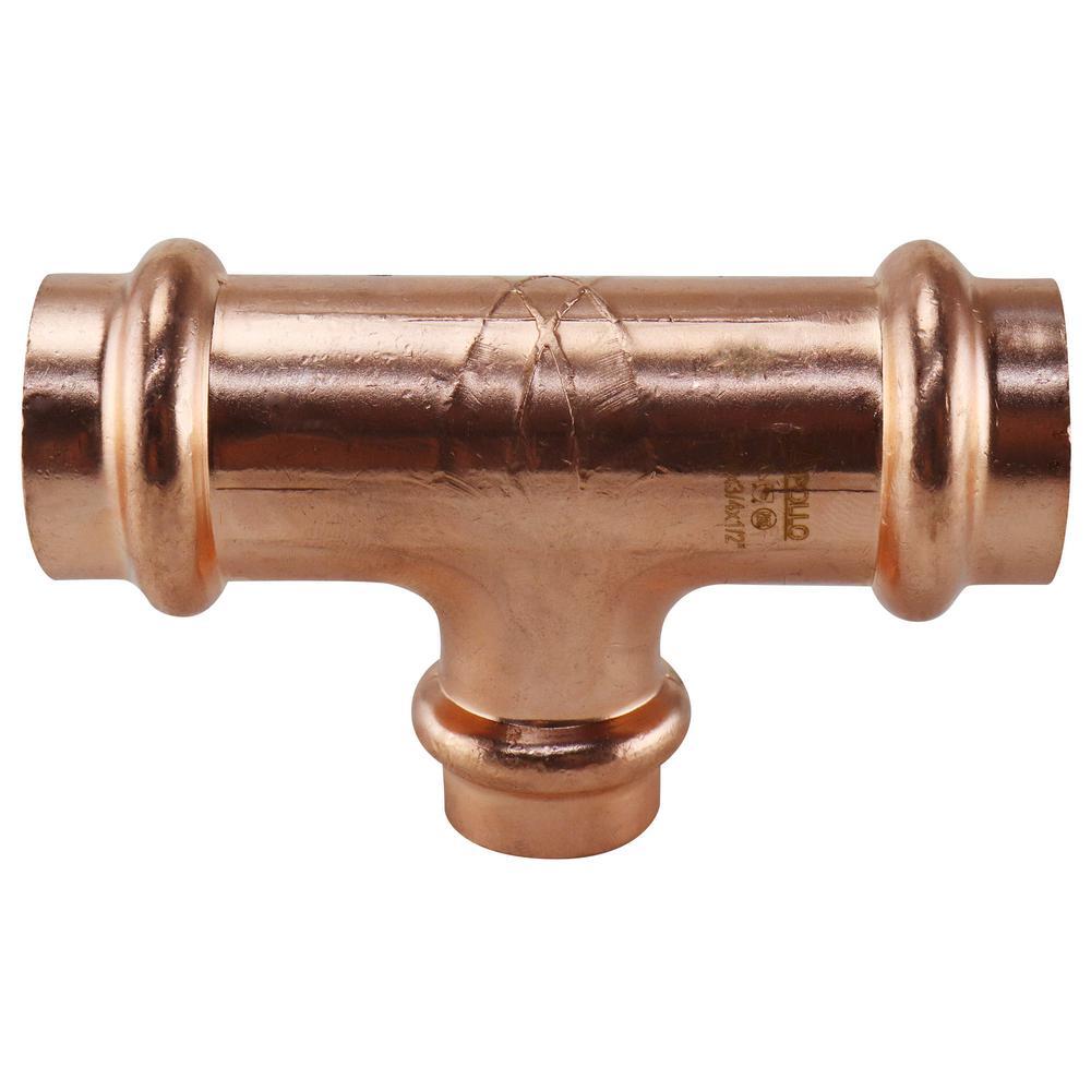 3/4 in. x 3/4 in. x 1/2 in. Copper Press Reducing Tee