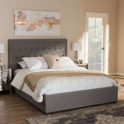 Taylor Gray Fabric. Storage   Beds   Headboards   Bedroom Furniture   The Home Depot