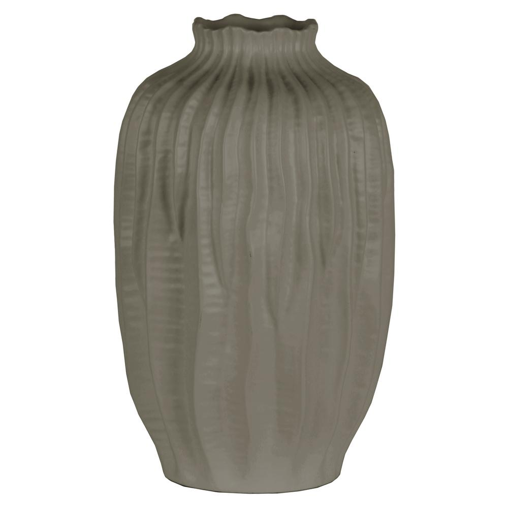 Gray Coated Ceramic Decorative Vase