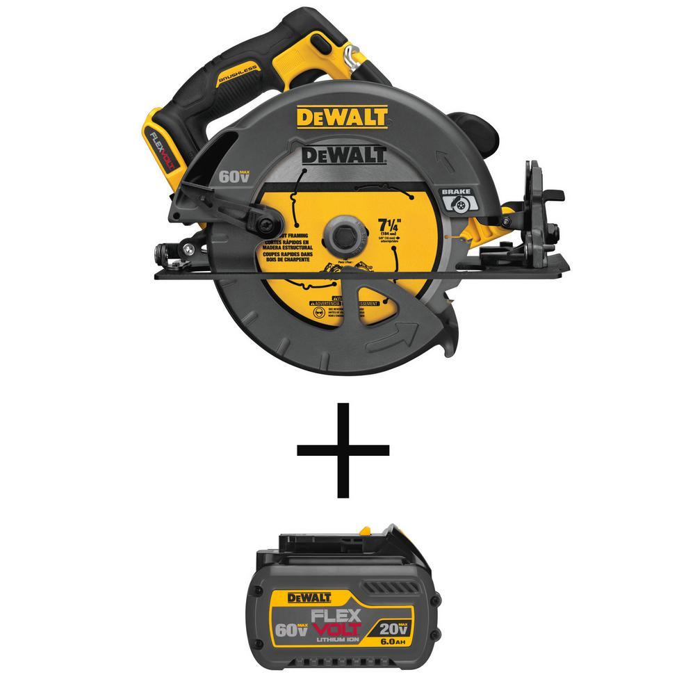 DEWALT FlexVolt 60V Li-Ion 7-1/4 in. Circular Saw w/FLEXVOLT Battery Deals