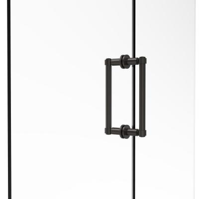 Contemporary 8 in. Back to Back Shower Door Pull in Oil Rubbed Bronze