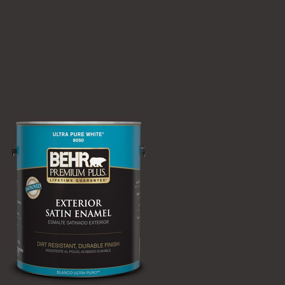 BEHR Premium Plus 1-gal. #ECC-27-3 Evening Canyon Satin Enamel Exterior Paint