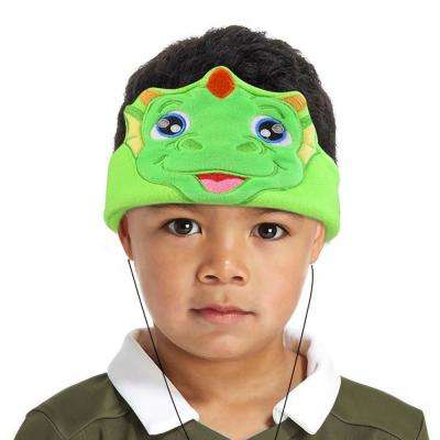 Kids Headphones Volume Limiter Machine Washable Fleece Headphones for Children Travel/Home w/ Adjustable Band (Dinosaur)