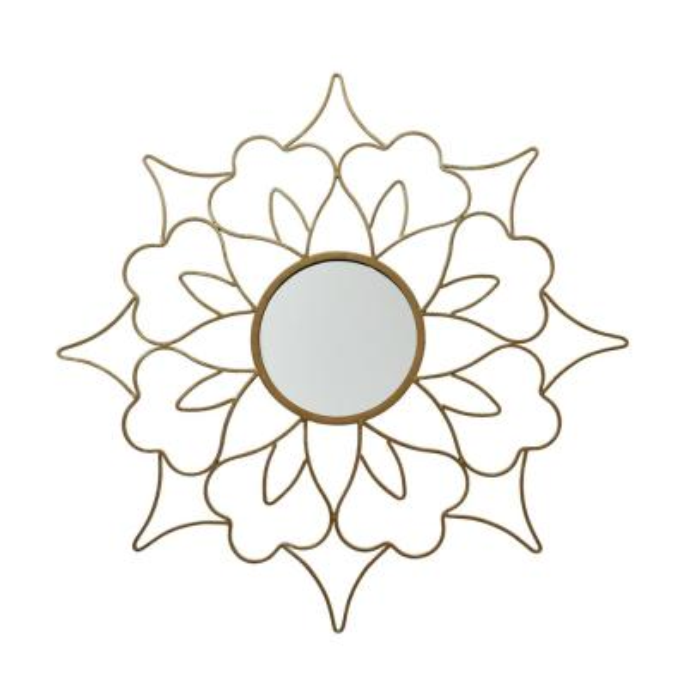 Lorcan Glam Flower Gold Wall Mirror