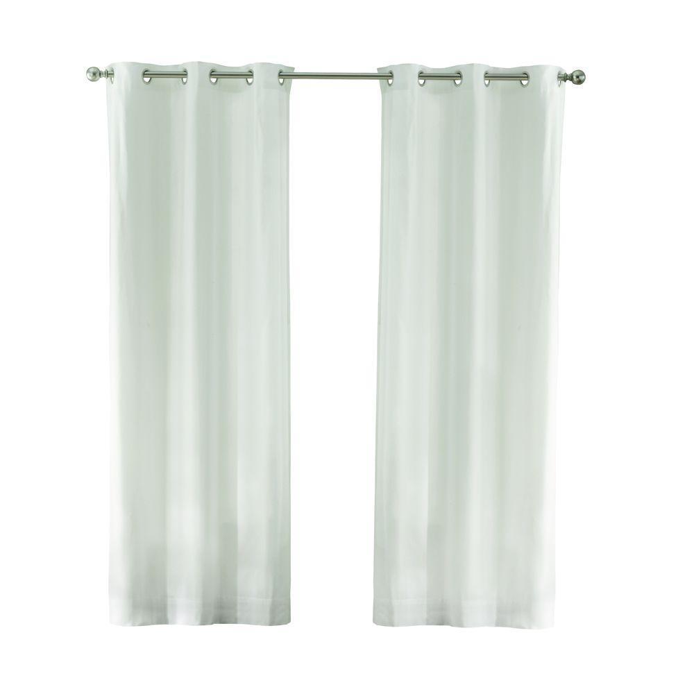 Cotton Duck 50 in. W x 84 in. L Light Filtering Window Panel in White
