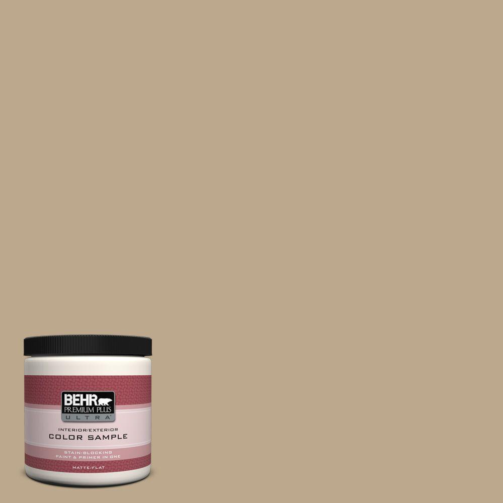 BEHR Premium Plus Ultra 8 oz. Home Decorators Collection Natural Chamois Interior/Exterior Paint Sample