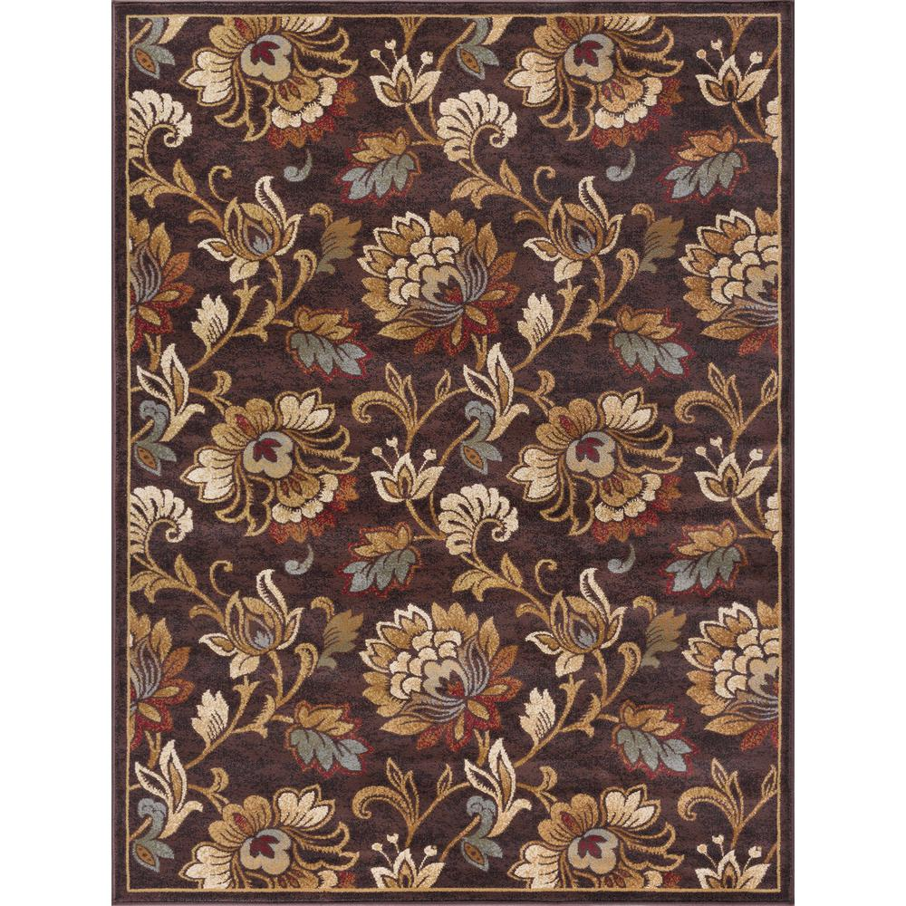 Tayse Rugs Festival Brown 5 Ft. X 7 Ft. Transitional Area