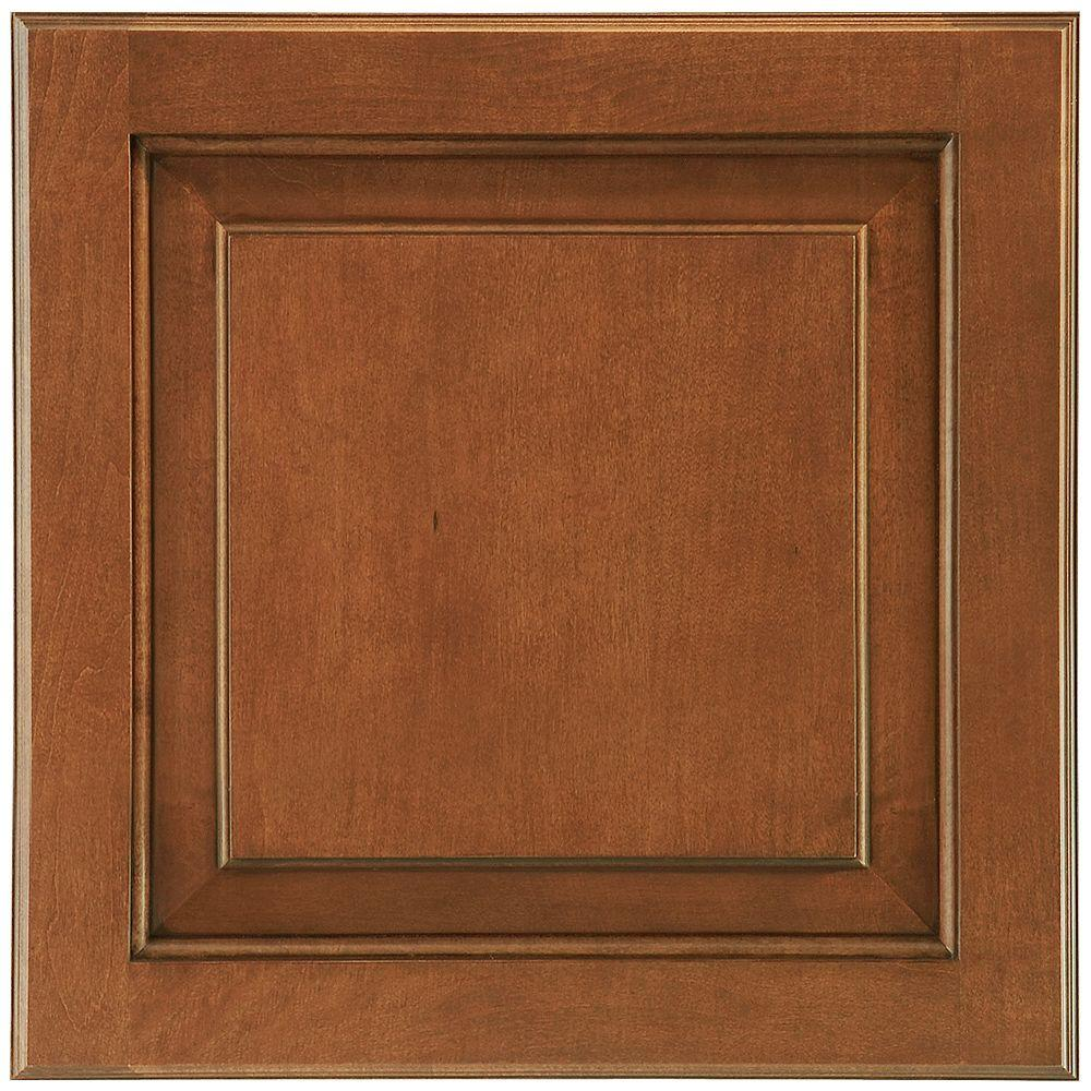 American Woodmark 14-9/16x14-1/2 in. Cabinet Door Sample in Charlottesville Maple Auburn Glaze Square