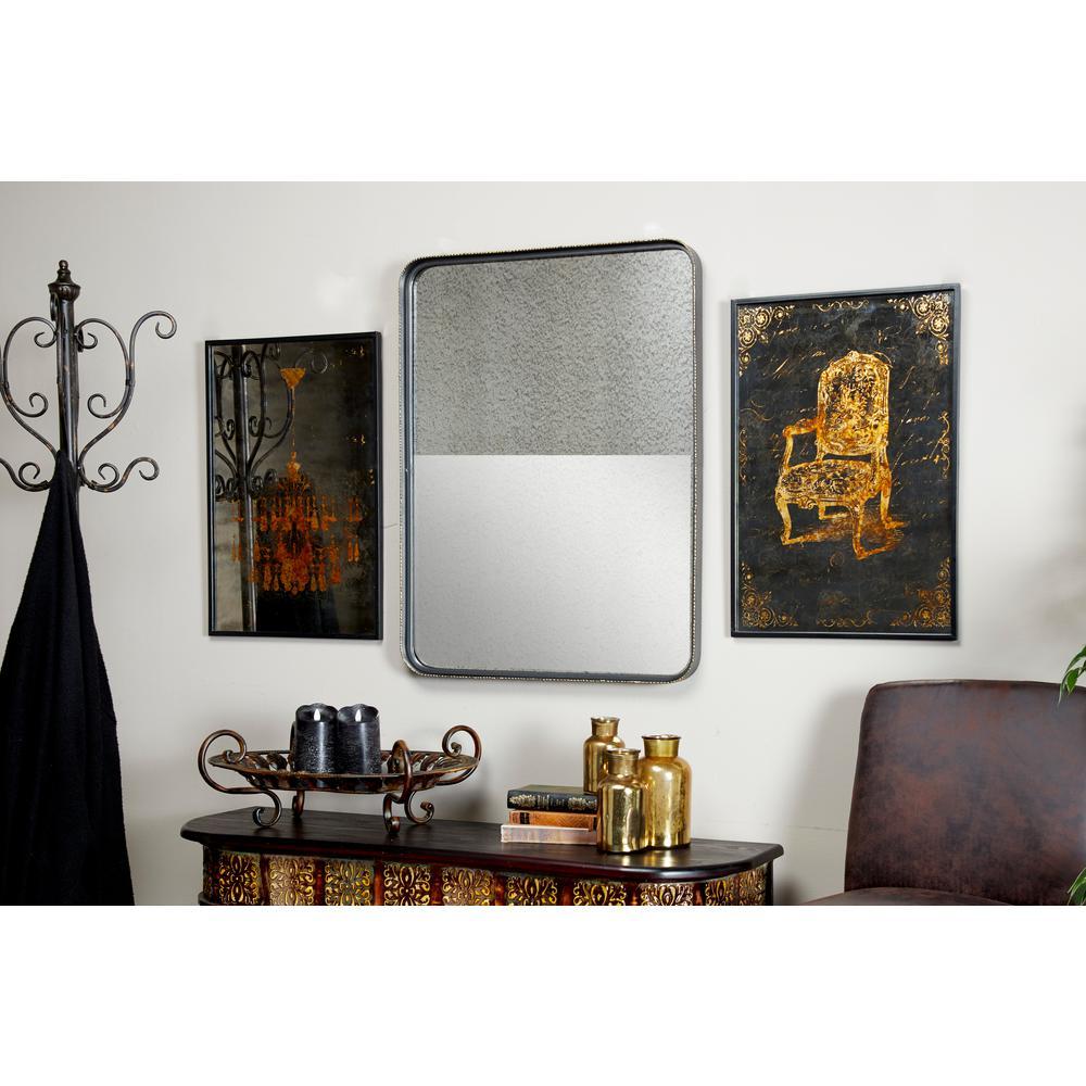 Medium Rectangle Distresssed Antique Finish Antiqued Classic Mirror (32.0 in. H x 24.0 in. W)