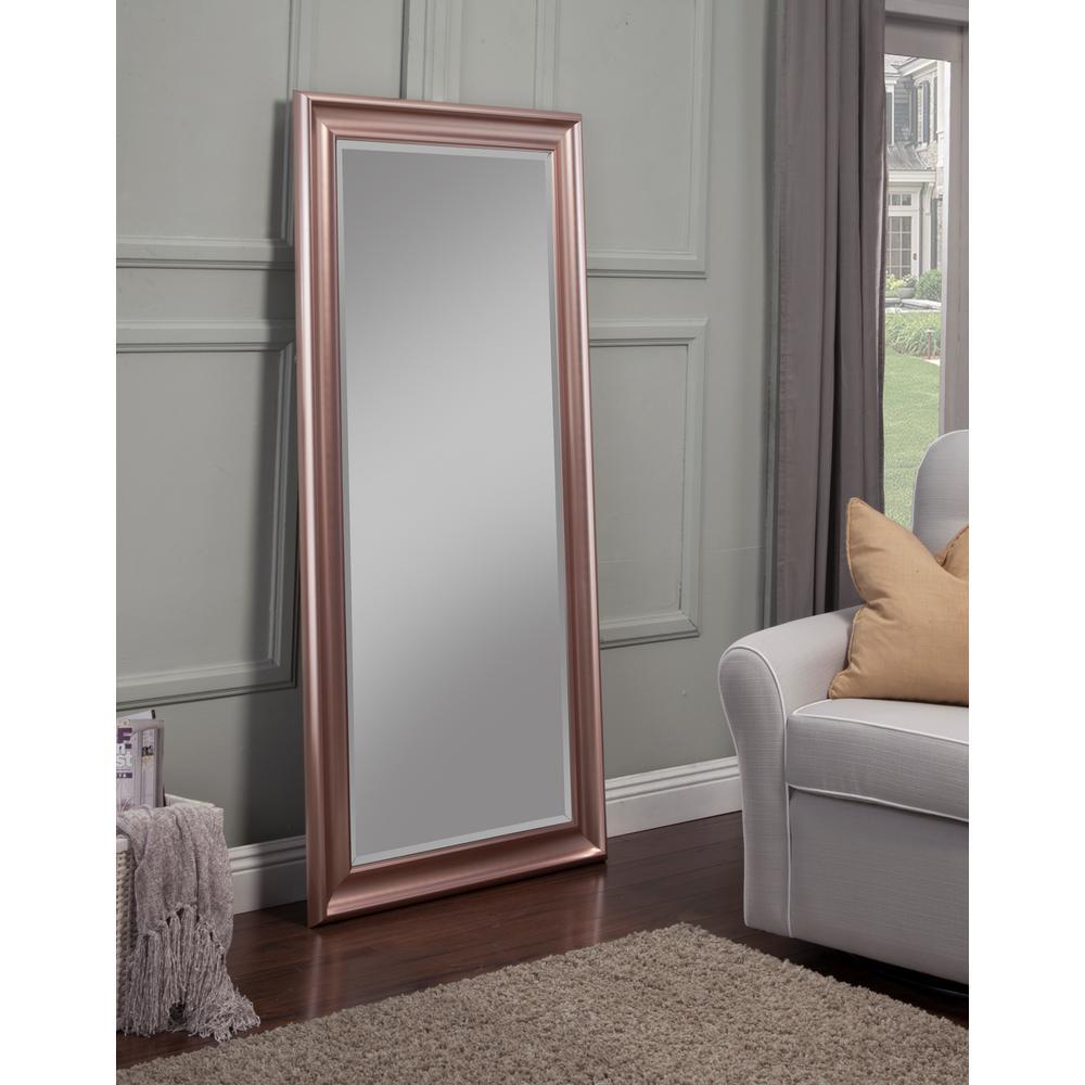 gold full length mirror Sandberg Furniture Rose Gold Full Length Leaner Floor Mirror 14611  gold full length mirror