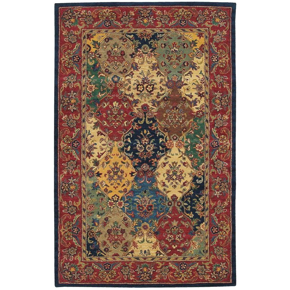 Nourison India House Multicolor 5 Ft X 8 Ft Area Rug 120946 The