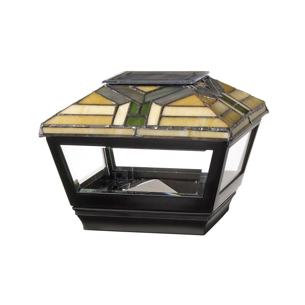 4 in. x 4 in. Vinyl Solar Light Forest Top Pyramid