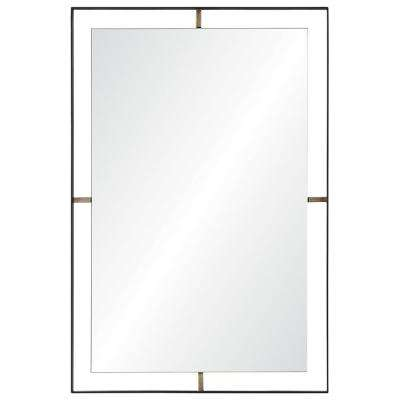 Heston 30.5 in. x 20 in. Framed Wall Mirror