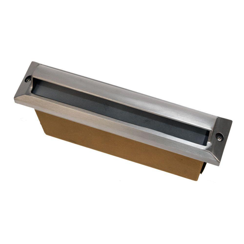 1-Light Stainless Steel Die Cast Brass Thinline Step Light
