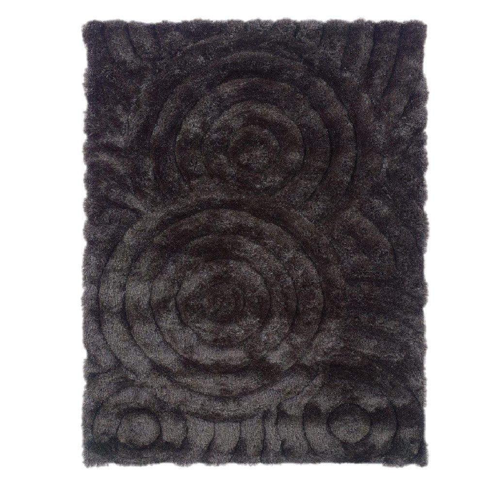 Linon Home Decor Links Collection Charcoal 5 Ft X 7 Ft Indoor Area Rug Rug Lk0157 The Home Depot