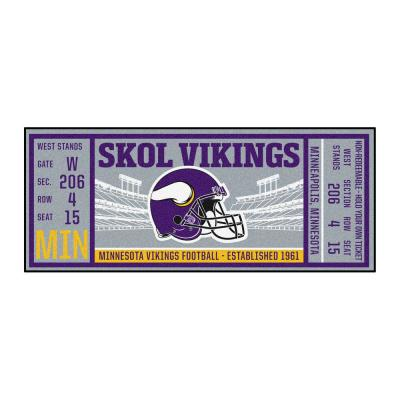 NFL - Minnesota Vikings 30 in. x 72 in. Indoor Ticket Runner Rug